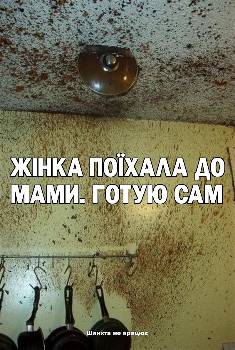 Жінка поїхала до мами...