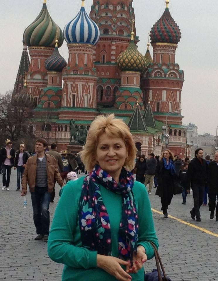 Лилія Сопельник біля Кремля
