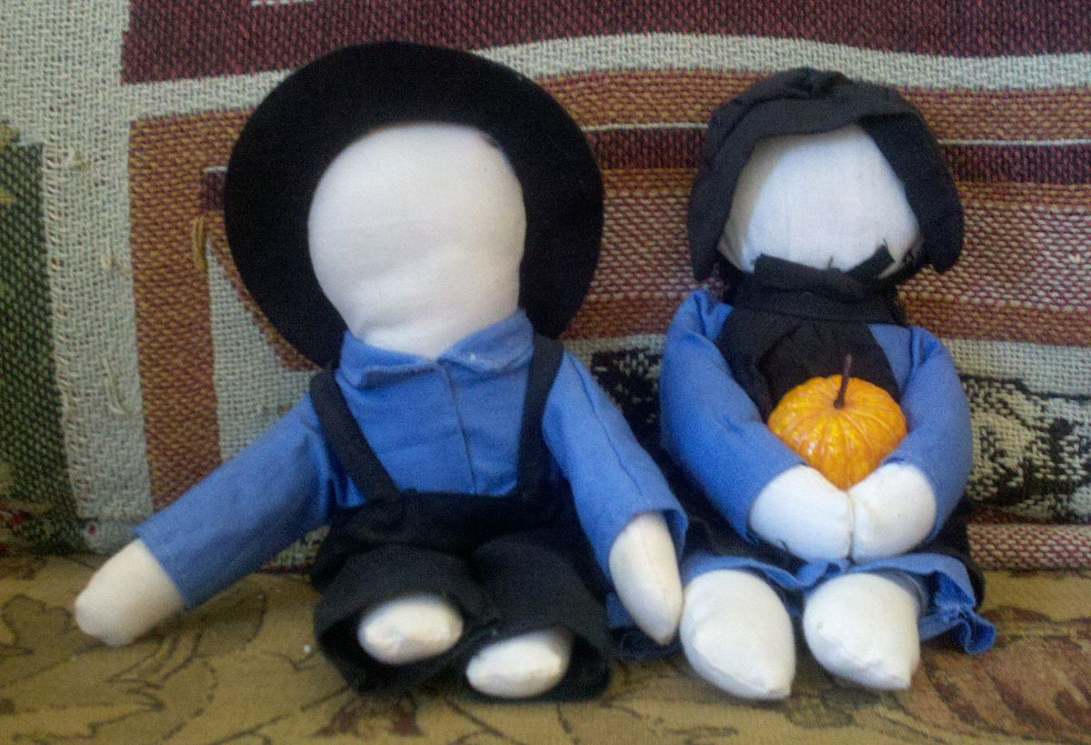 Image result for amish dolls no face