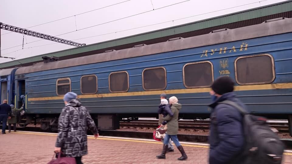 Один із брудних вагонів поїзда УЗ
