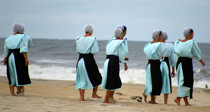 Image result for do amish wear swimming