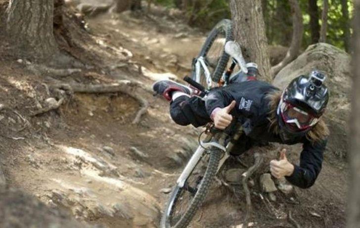 Велосипедист завжди на позитиві