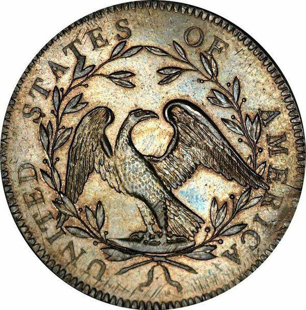 Даний екземпляр є однією з перших монет, які випустив Монетний двір США.