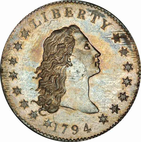 Срібний долар 1794 випуску - найдорожча монета в світі.