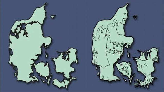 Італія – чобіт, а Франція – сова: блогер перемалював карту Європи - фото 346430