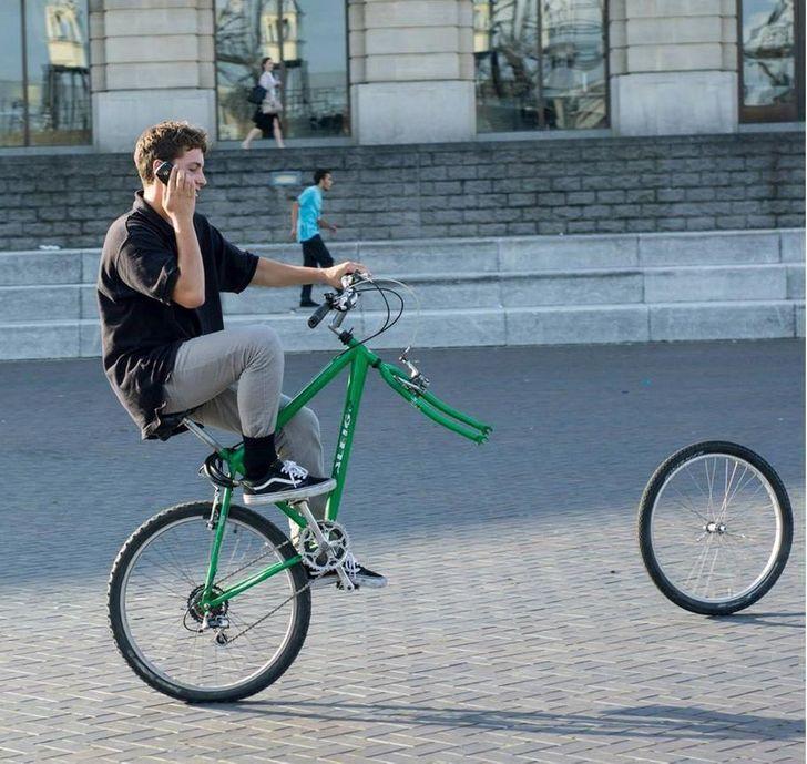 Вищий пілотаж кермування велосипедом