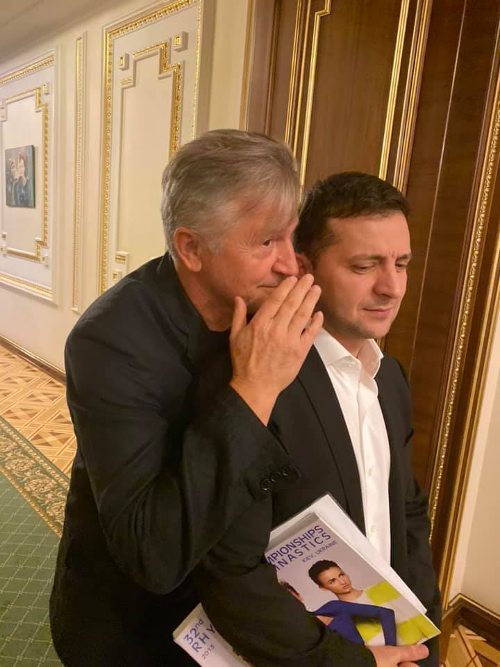 Станіслав Боклан та Володимир Зеленський