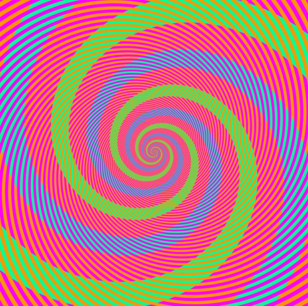 оптичні ілюзії: спіралі