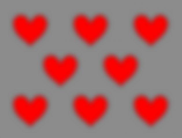 оптичні ілюзії: серця