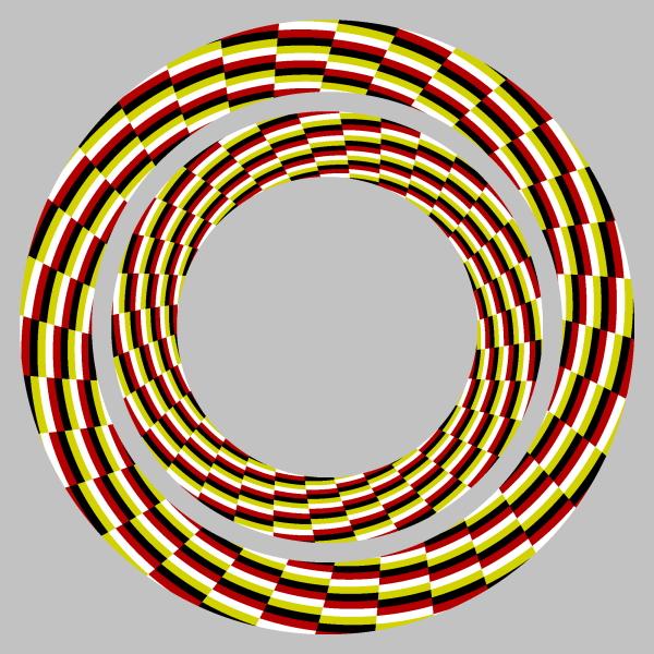 оптичні ілюзії: кільця