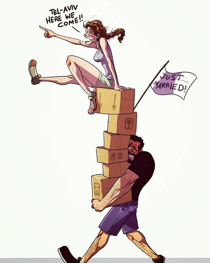 Художник з Тель-Авіву ілюструє щоденне життя зі своєю дружиною - 2