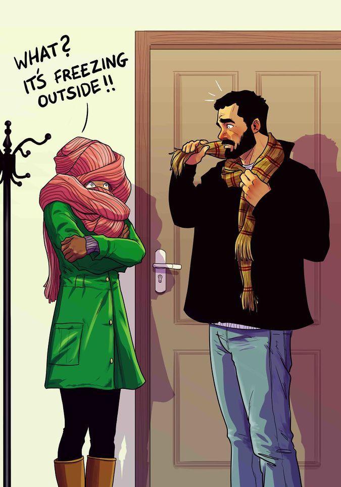 Художник з Тель-Авіву ілюструє щоденне життя зі своєю дружиною - 9