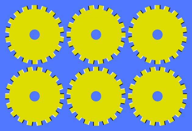 оптичні ілюзії: шестерні