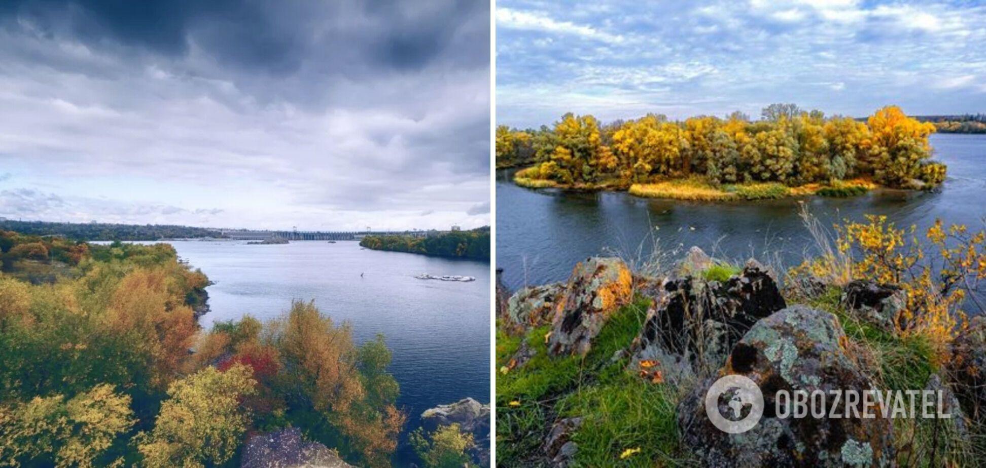 На острові Хортиця неймовірні осінні пейзажі