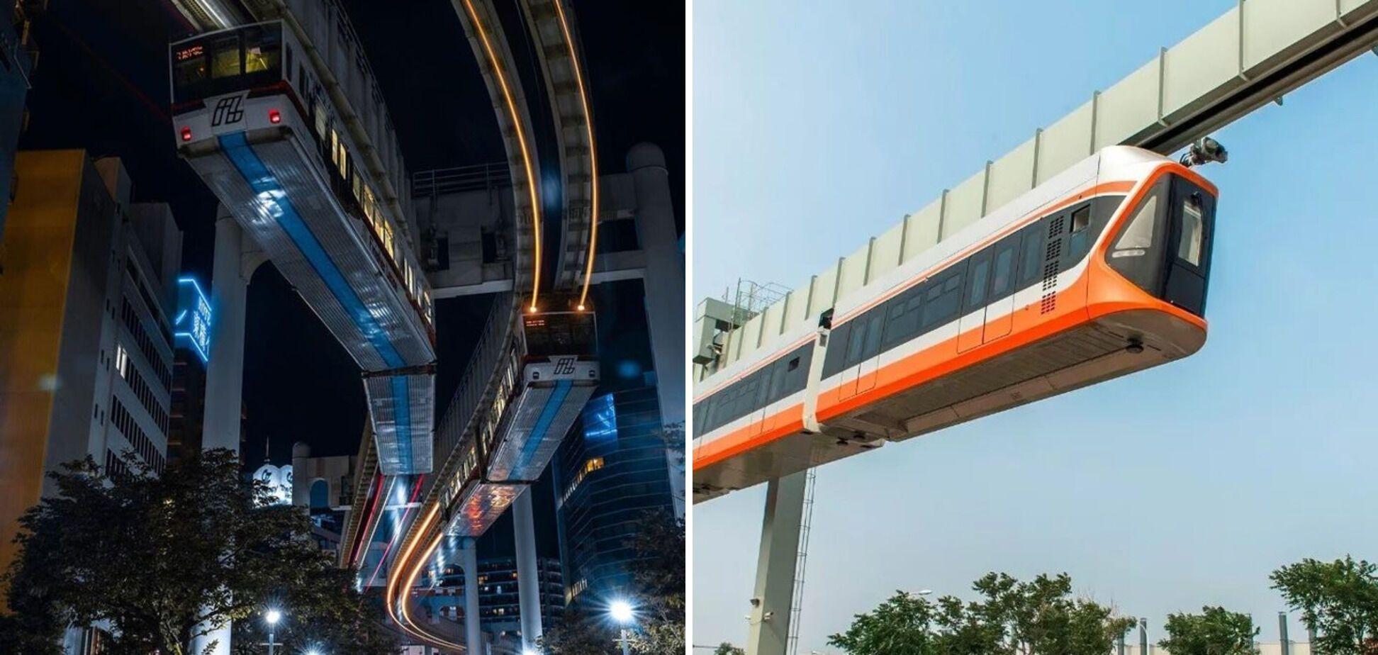В Японії потяги їздять над землею