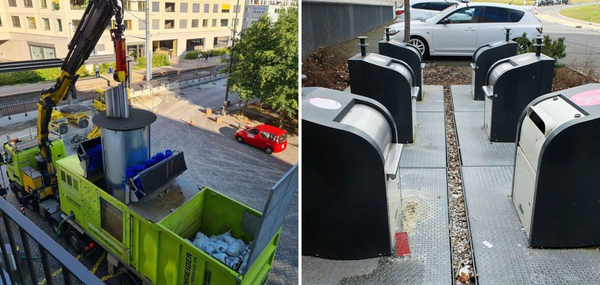 В Швейцарії миють смітники.