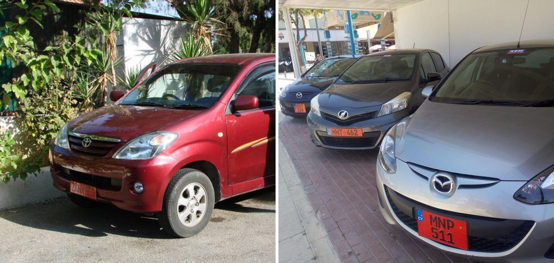 На Кіпрі номери орендованих авто червоні