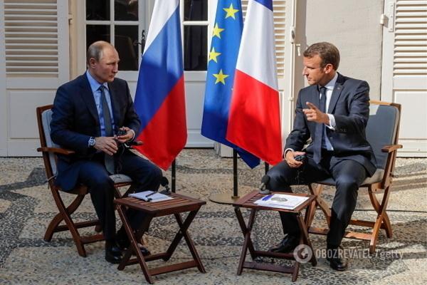 Володимир Путін і Еммануель Макрон у Марселі 19 серпня