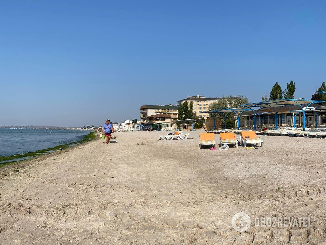 Пляж у Коблеві у вересні 2021