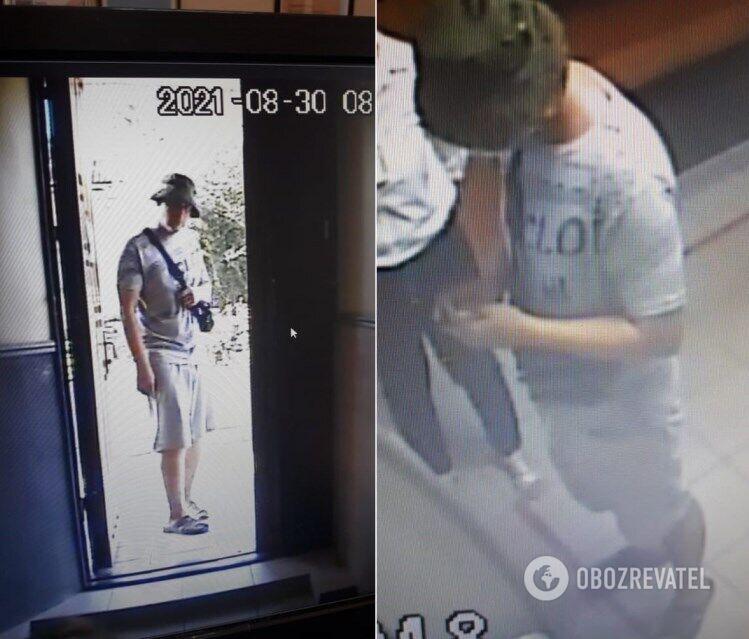 Дмитро Федорченко потрапив на камери відеоспостереження