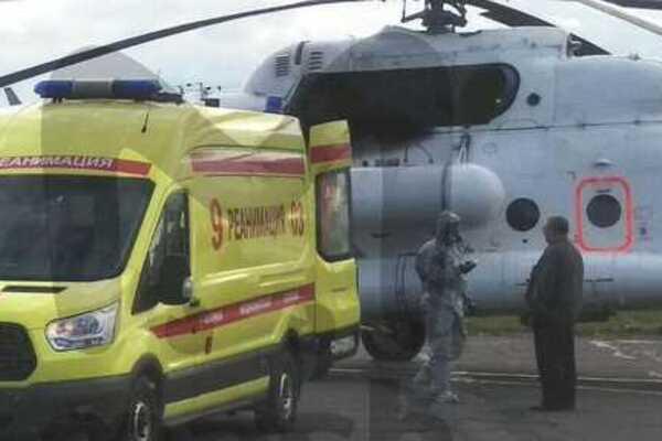 Постраждалих у Москву доправляли медики, одягнені в протирадіаційні костюми